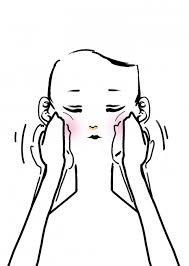 顔をマッサージしている女性のイラスト 無料イラストのimt 商用ok加工ok