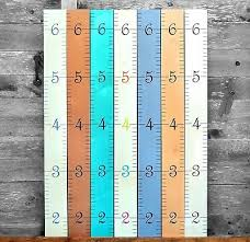 Growth Chart Art Wall Hanging Wooden Ruler For Kids Boys Girls Wood Height
