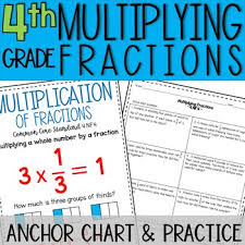 Multiplying Fractions By Whole Numbers Anchor Chart Multiplying Fractions Anchor Chart Practice Fourth Grade