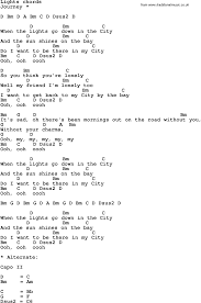 City Of Lights Song Lyrics Song Lyrics With Guitar Chords For Lights