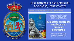 Enlace para ver la conferencia 'El sistema electoral español en el Derecho  Comparado' el 23 de febrero de 2021