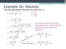 use quadratic equation to solve problems x the implementation of