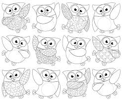 owl pictures to colour in. Perfect Owl Colouring In  Colour Owl Stars  12 Different Designs Per Pack Of 36 Inside Pictures To O