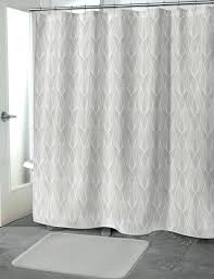 light gray shower curtain grey by ruffled bathrooms