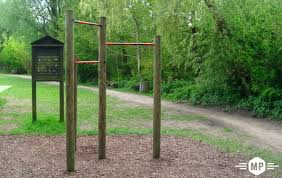 outdoor fitness pull up bar in london suburbs