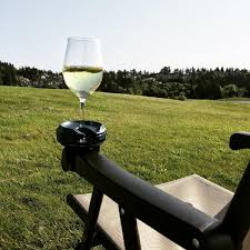 outdoor wine glass holder chair mounted wine glass armrest holder