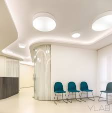 with illuminated oval form cavities are also a key element strengthening the diffe ambients and the sense of dynamism the light colors the use of
