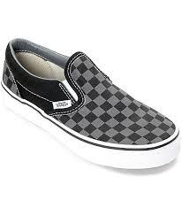 vans shoes for boys. vans slip-on black \u0026 pewter checkered boys skate shoes for