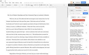 easybib bibliography creator google docs add on