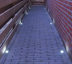led walkway lights. LED Step Lights - 1 Mini Round Deck / Light: Shown Installed In Walkway. Led Walkway R
