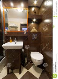 Brown Tiles Bathroom Bathroom Interior With Brown Tiles Stock Image Image 26076561
