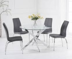fun gl dining table and chairs round room sets foter