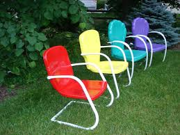 fresh paint vintage metal lawn chairs