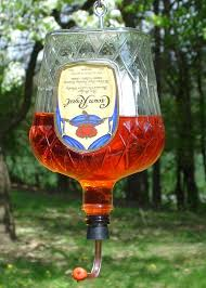 crown royal hummingbird feeder do you enjoy a nice beverage do you have empty 375 ml bottles hanging around and nothing to do with them