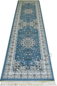 caspian persian wool hallway runner rugs 75056 blue image to close