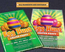 Easter Day Egg Hunt Flyer Template Hollymolly