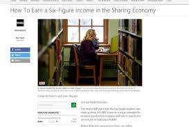 How To Earn A Six Figure Income In The Sharing Economy Mia