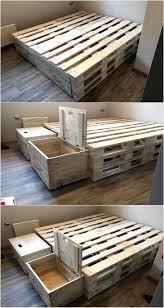 Pallet Bedroom Furniture 17 Best Ideas About Pallet Beds On Pinterest Diy Pallet Bed Bed