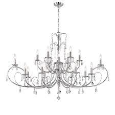 world imports kothari 18 light chrome chandelier
