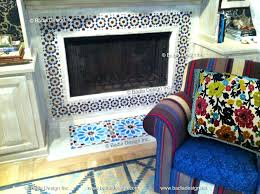 moroccan tile fireplace cement tile fireplace moroccan fireplace tiles uk