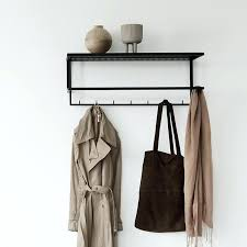 wall mounted coat hanger clothes rack ikea with folding hooks mirror