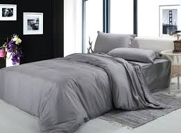 cover free 100cotton fabric silver gray white 4pcs bedding sets twin full queen king size silver duvet