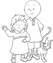 Small Picture Fun Coloring Pages Caillou Coloring pages Cute things for Kids