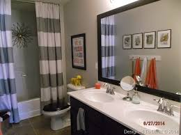Boy & Girl shared bathroom/ Neutral with pops of color