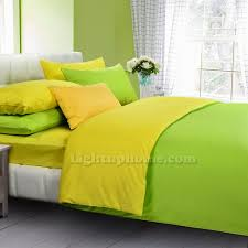 turquoise and yellow solid duvet cover bedding