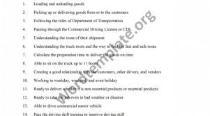truck driver job description job description of truck driver