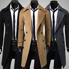 home men men s peacoat spring fall fashion men s woolen outerwear winter pea overcoat