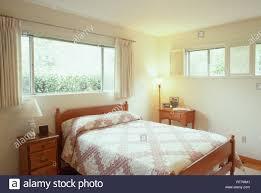 1960er Jahre Amerikanische Schlafzimmer Innenraum Usa Stockfoto