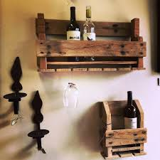 Creative And Simple But Cool Homemade Wood Wine Rack Made From Pallet With Glass  Holder For Decoration Room Ideas