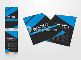 Creative Business Card Design With Front And Back Side Presentation