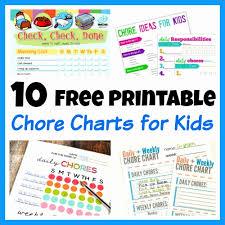 Design Free Printable Chore Charts For Multiple Children