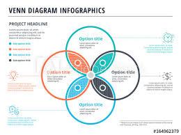 Venn Diagram In Illustrator Venn Diagram With 4 Circles Infographics Template Design Vector
