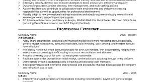 Resumes Payroll Accountant Examples Sample Professional Free Picture