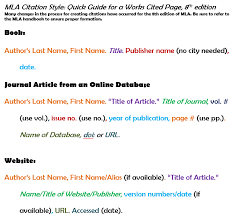 cited sources mla mla citation style guide library guides at georgia southern