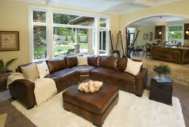 living room ideas brown sectional. Emejing Family Room Decorating Ideas Brown Leather Contemporary Living Sectional B