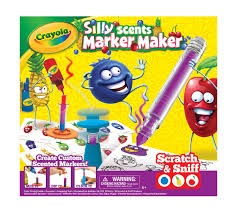 Crayola Silly Scents Marker Maker Creative Art Tool Make Your Own Smelly Markers Great Gift Color Mixing Guide And All Marker Parts Crayola