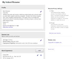 Post Resume On Indeed Jobs Search Millions Of Resumes For Free