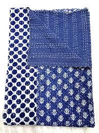 Best 25+ Kantha quilt ideas on Pinterest | Indian embroidery, DIY ... & King size Indigo Blue Kantha Quilt, Indian Patchwork Handmade Kantha  Bedding Bedspread Cotton Blanket, Adamdwight.com