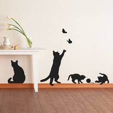 cat wall sticker cosy home blog