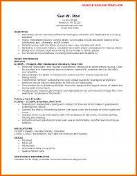 Resume Examples For Nursing Assistant Cv Cover Letter Home Sample