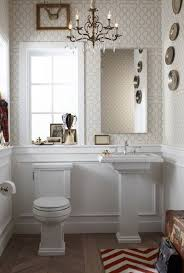 powder room wainscoting