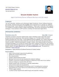 Agile Methodology Testing Resume Agile Practitioner Senior Software Ba And Qa Analyst