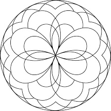 Small Picture Simple Mandala Coloring Pages Pdf Coloring Pages