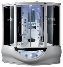 the superior steam shower sauna with jacuzzi whirlpool massage bathtub white