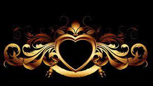 Gold Aesthetic Heart Wallpaper ...