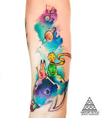 The Little Prince в стиле акварель Inkport Tattoo